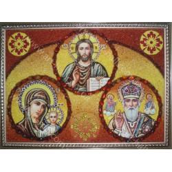 Ікона Ісус, Богоматір і Микола Чудотворець