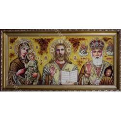 Икона Иисус, Божия Матерь и Николай Чудотворец