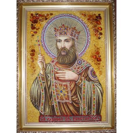 Именная икона Святого царя Константина