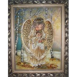 Ангелочек и котенок