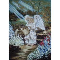 Картина Ангелочек и цветы