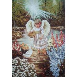 Картина Ангелочек у озера