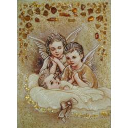 Картина Янголятка з немовлям