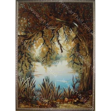 Картина Дерево біля ставка