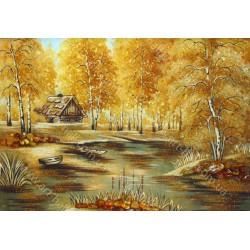 Картина Будиночок у лісі