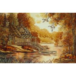 Картина Домик у реки