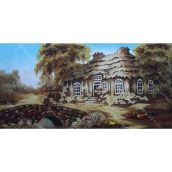 Картина Місток у будиночка