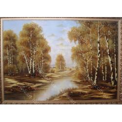 Картина Озеро в березах