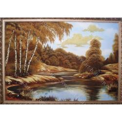Картина Озеро в лісі