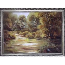 Картина Затишний будиночок у лісі