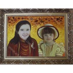 Портрет на заказ из янтаря