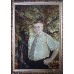 Портрет на природе из янтаря