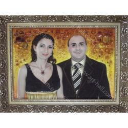 Портрет пары из янтаря