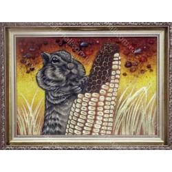 Картина Бурундучок и кукурудза
