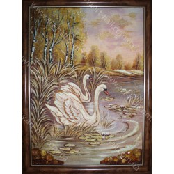 Картина лебедей