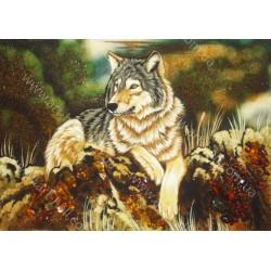 Картина одинокий волк