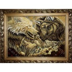Картина з вовками