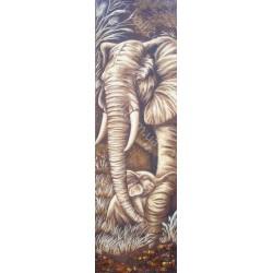 Картина Слон и слонёнок