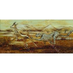 Картина Белая рысь на охоте