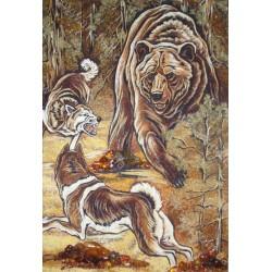Картина Ведмедь и собаки
