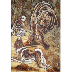 Картина Ведмідь і собаки