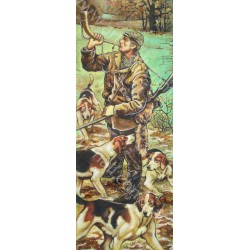 Картина Охотник с горном