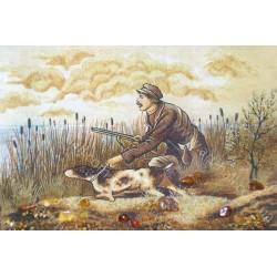 Картина Охотник с собакой