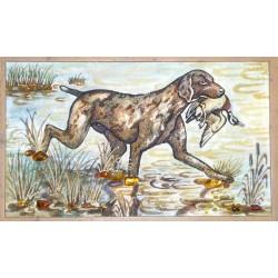 Картина Собака з качкою