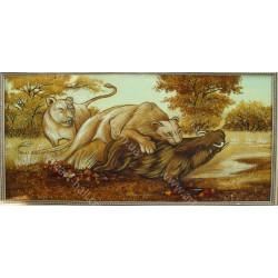 Картина тигры на охоте