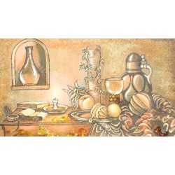 Картина Натюрморт Вино і фрукти