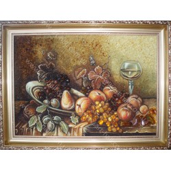 Картина Натюрморт Вино с фруктами