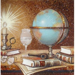 Картина Натюрморт Глобус и бокал