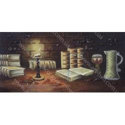 Картина Натюрморт книги при свічці