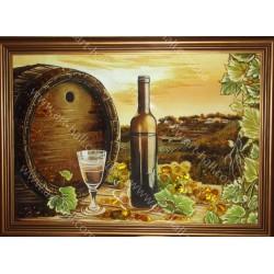 Картина Натюрморт з бочонком вина