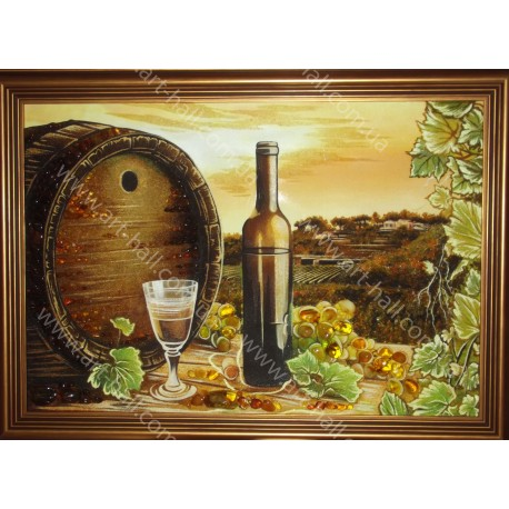 Картина Натюрморт с бочёнком вина
