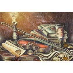 Картина Натюрморт Скрипка и свеча
