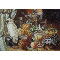 Картина Натюрморт Фрукты и попугай