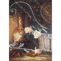 Картина Натюрморт цветы и корзинка