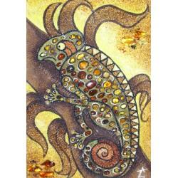 Картина Панно с игуаной