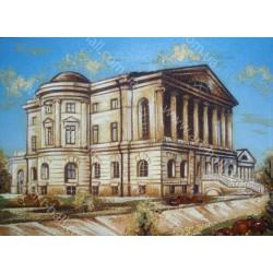 Картина здания из янтаря