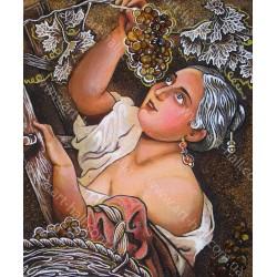 Картина Девушка и виноградная лоза