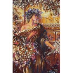 Картина Девушка в цветах