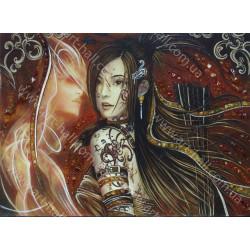 Картина Девушка и стрелы
