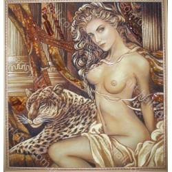 Картина девушка с тигром