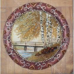 Декоративна тарілка з природою