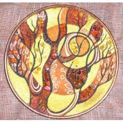 Декоративна бурштинова тарілка