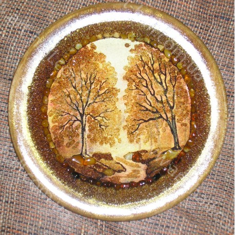 Тарелка с пейзажем