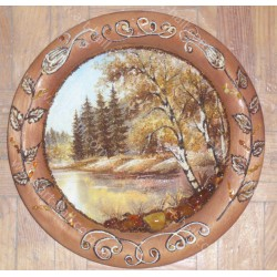 Тарелка с природой