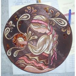 Тарелка с украиночкой