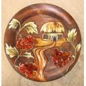 Тарелка с цветком